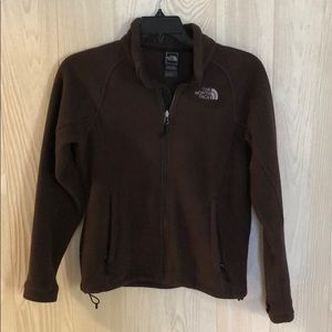 Brown North Face Fleece